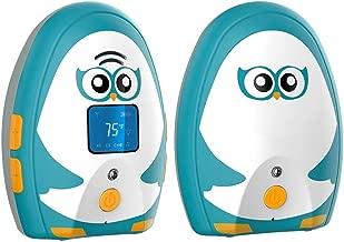Audio Baby Monitor TimeFlys Baby Monitor Digital Mustang Vibration Two Way Talk LCD Display Temperature Monitoring and Warning Lullabies Night Light …