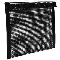グリルメッシュバッグ、バーベキューバッグ、屋外ピクニック用の実用的なノンスティック再利用可能ブラックホームキッチンアクセサリー