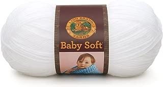 Lion Brand Yarn 920-100 Babysoft Yarn, White