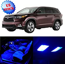 SCITOO LED Interior Lights 12pcs Blue Package Kit Accessories Replacement for 2008-2013 Toyota Highlander