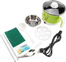 Fendysey Pot de Cuisson, Mini Pot de Cuisson électrique de sécurité Anti-Chauffage de 1,8 L, dortoir pour étudiant(Mint Gr...