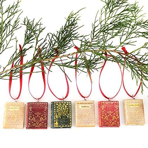 Jane Austens Pride /& Prejudice Miniature Book Christmas Ornament