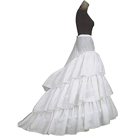 A-Line mujer enagua miriñaque blanca para novia guardainfante de novia enagua falda paseo nupcial de 3 capas vestido de novia accesorios de la boda