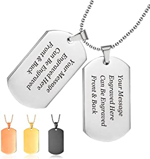 CN/_ Fashion Men/'s My Son I Love You Letter Chain Necklace Tag Gift Silver Late