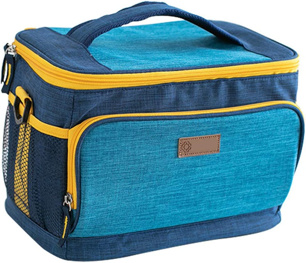 Insulated Lunch Bag Reusable Lunch Box with Removable Shoulder Strap for Office, Outdoor, Picnic