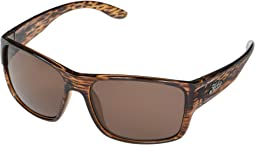 Shiny Brown Wood Grain Frame/Copper Polarized PC Lens