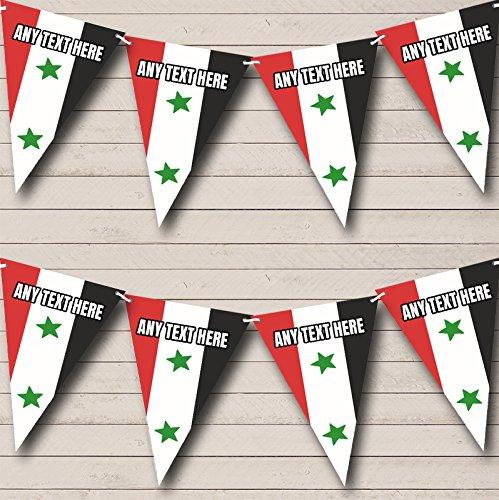 Syrische vlag Syrië Gepersonaliseerde verjaardag Bunting Party Banner Decoratie slinger Small