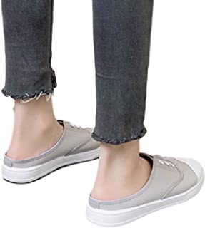 [ココマリ] レディース かかとなし スニーカー サンダル スリッポン シューズ 靴 スリッパ キャンバス シンプル カジュアル