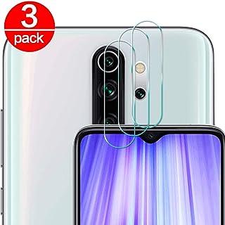[3 Pack] Cristal Templado para Lente Cámara de Xiaomi Redmi Note 8 Pro, Ultra Fino Protector 2.5D 9H de Dureza Cámara Trasera Lente Película de Pantalla