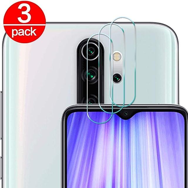 [3 Pack] Cristal Templado para Lente Cámara de Xiaomi Redmi Note 8 Pro Ultra Fino Protector 2.5D 9H de Dureza Cámara Trasera Lente Película de Pantalla