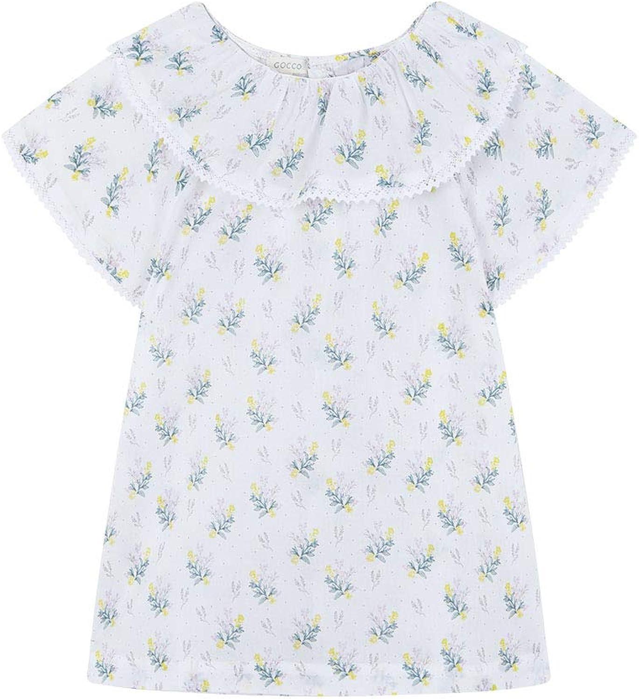 Gocco Blusa Flores Cuello Volante Niñas