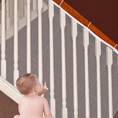 Sooair Rete di protezione per scale, 3 m, rete di sicurezza, rete di sicurezza, rete per bambini, per balconi e scale, ringhiere, rete di sicurezza per bambini (3 m)