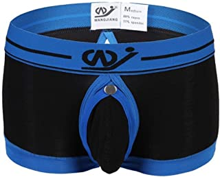 HaiDean Men's Briefs Boxer Shorts Casual Elastic Modern Comfortable Soft Breathable Basic Underpants Boxer Panties Underwear