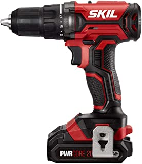 SKIL 20V 1/2 Inch Cordless Drill Driver, Includes 2.0Ah PWRCore 20 Lithium Battery and Charger - DL527502