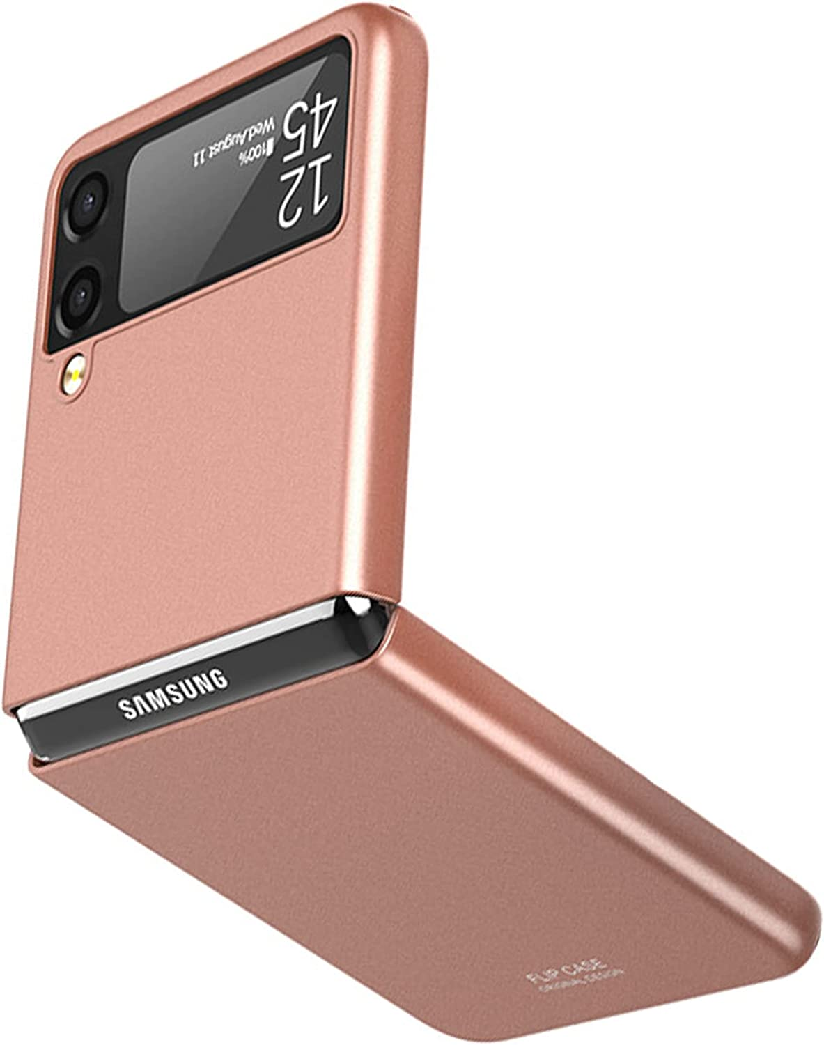 NINKI Rose Gold Ultra Slim Galaxy Z Flip 3 Case 5g 2021,Shockproof Solid PC Cover Thin Protective Case for Samsung Galaxy Z Flip 3 Case 5g,Compatible Samsung Galaxy Z Flip 3 5G Accessories Phone Case
