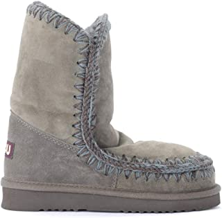 Mou Woman's Eskimo 24 Ankle Boot in Warm Double Faced Lapland Gray Sheepskin
