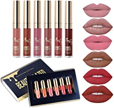 Beauty Glazed 6 PCS Matte Liquid Lipstick set Waterproof Long Lasting Birthday Edition Durable Liquid Lipgloss Beauty Cosmetics Makeup Set