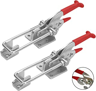 Accessbuy 2-Pack 2000lbs Capacity Heavy Duty Adjustable Latch U Bolt Self-lock Toggle Clamp (2PCS)