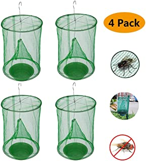 Ranch Fly Trap | Most Effective Trap Ever Made with Fishing Apparatus | Food Bait Flay Catcher for Outdoor, Family Farms (4)