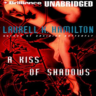 A Kiss of Shadows audiobook cover art