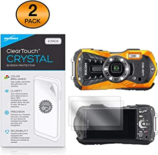 Ricoh WG-50 Screen Protector, BoxWave [ClearTouch Crystal (2-Pack)] HD Film Skin - Shields from Scratches for Ricoh WG-50