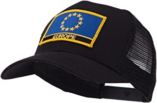 OTTO:ACE WORLD Asia, Australia and Other Flag Letter Patched Mesh Cap - Europe OSFM