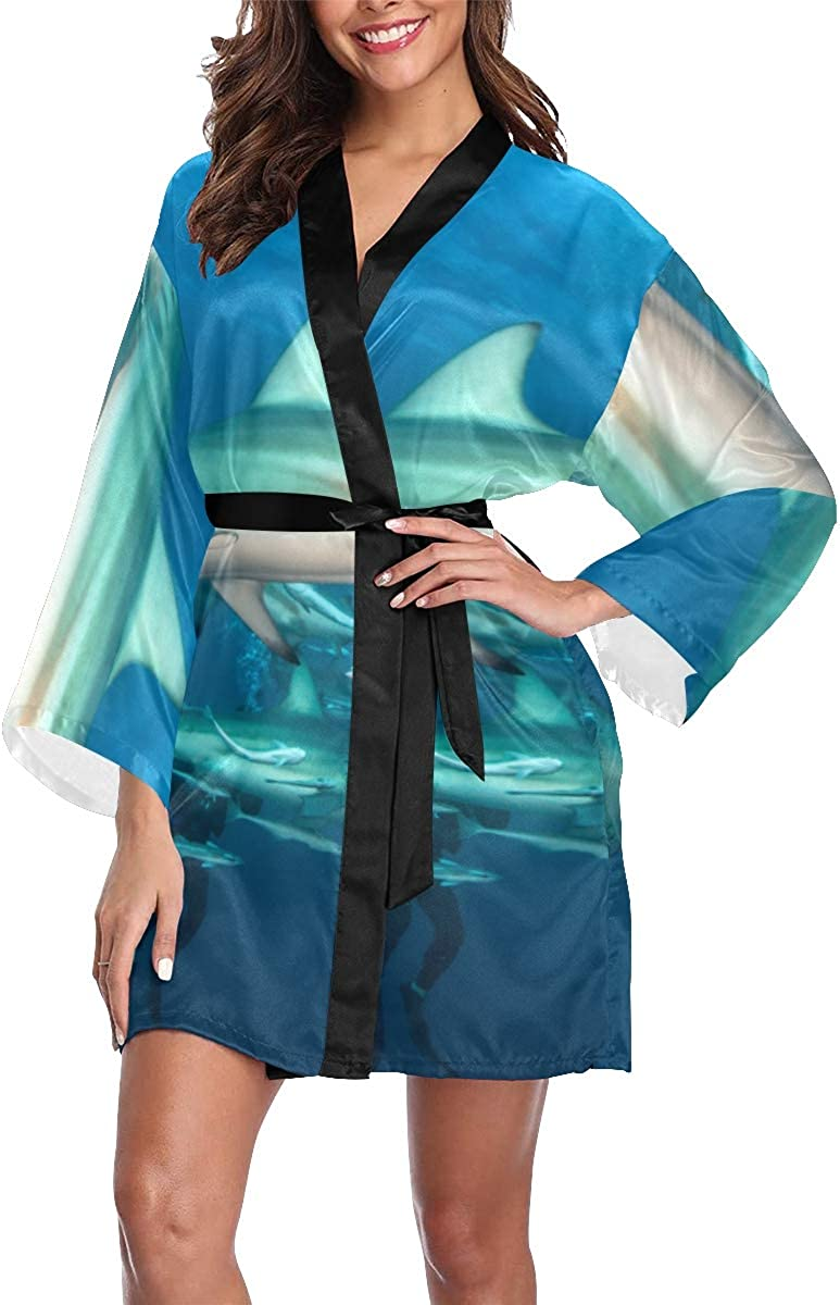 Directly managed store Womens Robe Blacktip Shark Vintage Limited time for free shipping Lightweight Robes Kimono