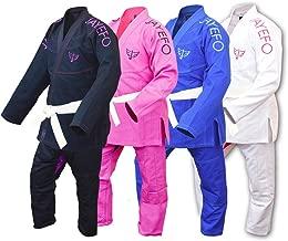 Jayefo Womens IBJJF Legal BJJ Ultra Light Brazilian JIU Jitsu GI W/Preshrunk Soft Fabric & Free Belt Pearl Weave - 2 Years Warranty