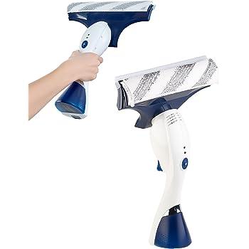 Sichler Haushaltsgeräte Akku Fensterreiniger: 3in1-Fenstersauger mit Sprüh-Funktion & Wischer, Akku, 1 Std. Laufzeit (Fensterabzieher)
