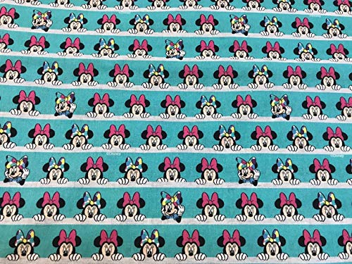 tela de disney minnie con lazos 100% algodón popelina