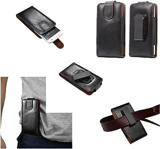 DFV mobile - Magnetic Genuine Leather Holster Executive Case Belt Clip Rotary 360º for MYWIGO Magnum 2 Pro - Black