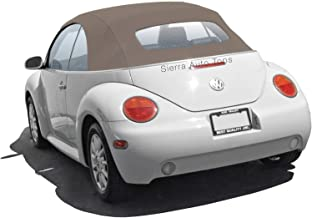 Sierra Auto Tops Convertible Soft Top Replacement, compatible with Volkswagen VW Beetle 2003-2010, Power Opening models, German A5, Cream