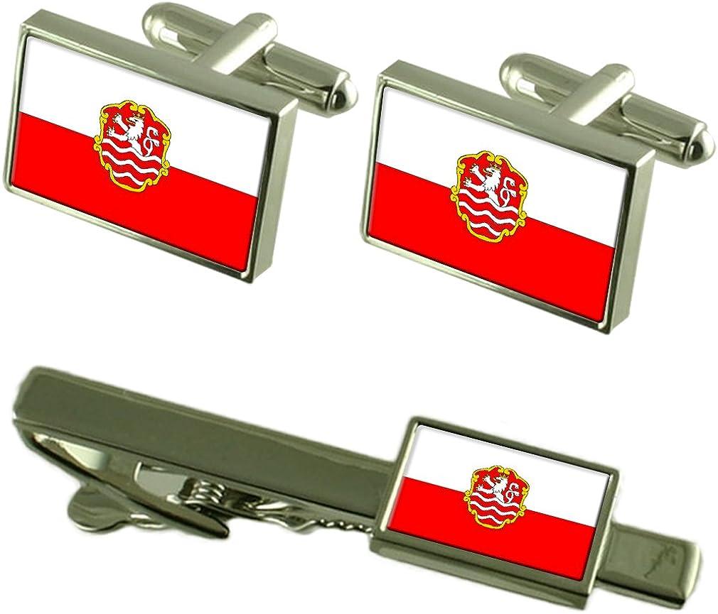 Karlovy Vary New color City Czech Republic Flag Gif Tie Cufflinks Box Clip Industry No. 1