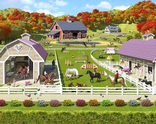Walltastic 40113 Horse and Pony Stables Designer Fototapete