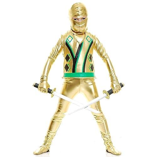 Small Rubies Gold Ninja Childs Costume