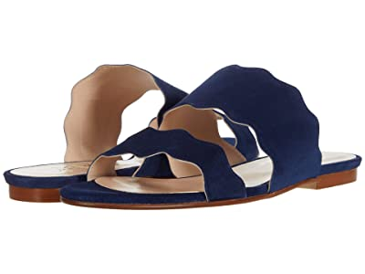 French Sole Figment (Navy Suede) Women