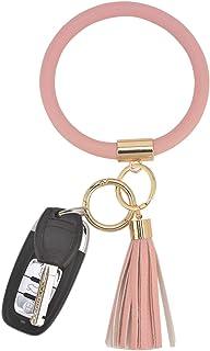 دستبند حلقه ای کلیدی Coolcos مچبند مچبند - حلقه نگهدارنده بزرگ دستبند چرمی برای زنان