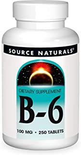 Source Naturals Vitamin B-6, 100 mg Immune System Support - 250 Tablets