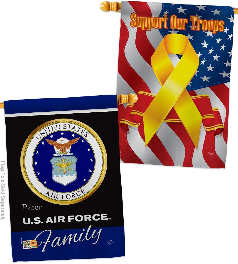 Air Force 送料無料/新品 直営店 Proudly Family House Flag USAF Uni Forces - Pack Armed