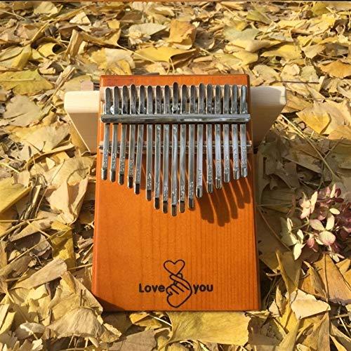 SYXMSM Thumb Klavier 24-Tone Zweischichtigen Finger Klavier Kalimba 17-Ton-Board-Typ Anfänger Tragbare Finger Klavier (Color : B)