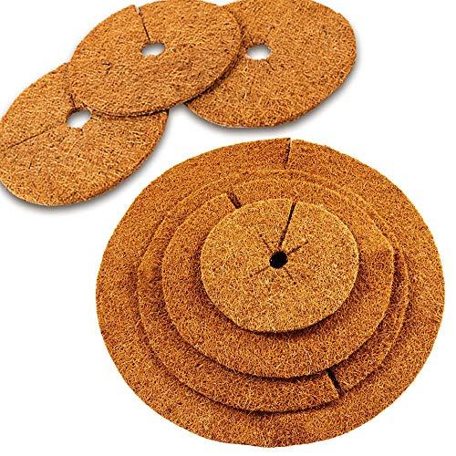 MW.Shop.24 Kokos-Mulchscheibe - 37 cm/Kübelabdeckung/Winterschutz für Topfpflanzen/Pflanzenschutzmatte/Unkrautschutzmatte