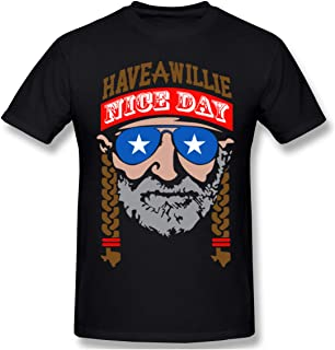 Oopp Jfhg Have A Willie Nice Day Crew Neck Short-Sleeve T-Shirt for Men