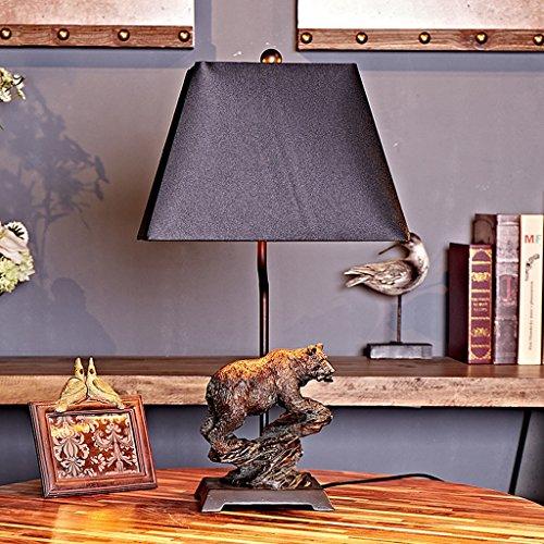 MILUCE Kleine Bär Tischlampe Tischlampe Retro, um die alte Nachttisch Lampe Café Buch Schreibtisch Lampe zu Tun