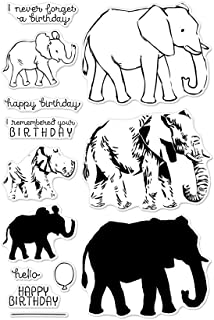 Hero Arts CM224 Clear Stamp Set, Color Layering Elephant, 4