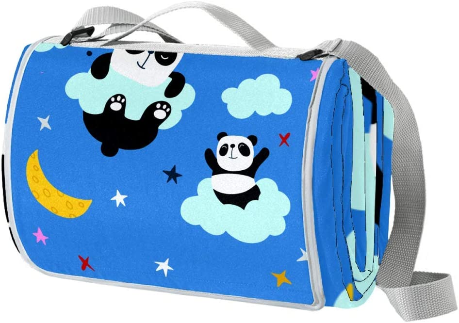 XJJUSC Panda Space Outdoor Max 82% OFF Picnic an Large Blanket Proof Sand National uniform free shipping