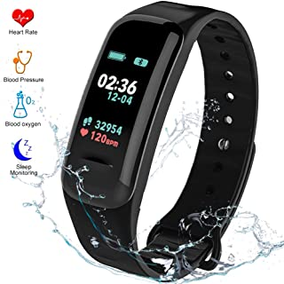 Fitness Tracker HR Activity Tracker - Watch with Blood Pressure Monitor, IP67 Waterproof Activity Tracker with Heart Rate Sleep Monitor Calorie Pedometer for Kids Men and Women