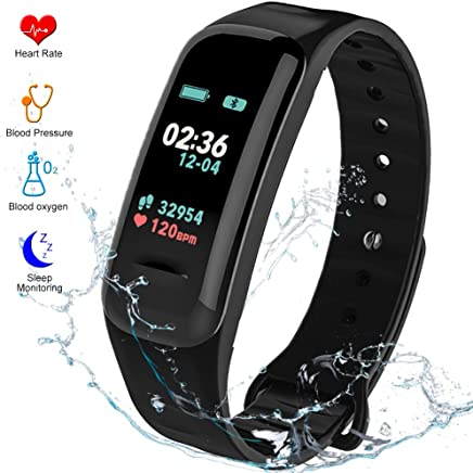 Fitness Tracker HR Activity Tracker - Watch with Blood Pressure Monitor, IP67 Waterproof Activity Tracker