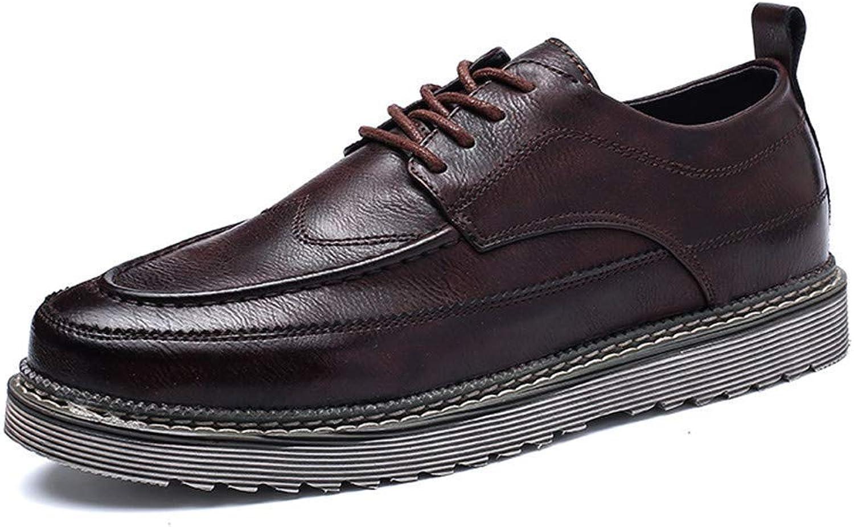 FuweiEncore 2018 Men's Comfort Lacing New Vintage Simple Outsole Business Oxford Casual Formal shoes (color  Black, Size  43 EU) (color   Brown, Size   44 EU)
