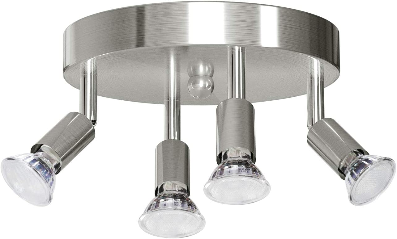 4 LED Light Ceiling Fixtures Overhead Cheap Genuine GU10 Adjustable Socket Ce