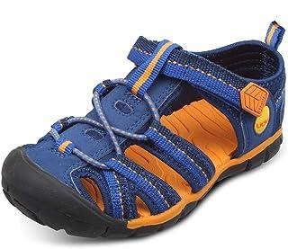 UOVO 优沃 包头男童凉鞋夏季新款儿童沙滩鞋中大童学生男童鞋潮鞋子 跨境热销 叶子【请参照图片中的尺码表选购】